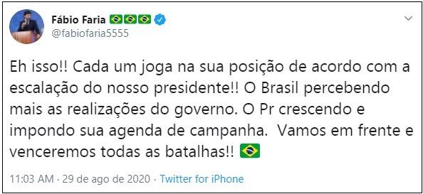 """""""Parar de brigar não significa compor com ninguém"""", diz ministro sobre Bolsonaro"""