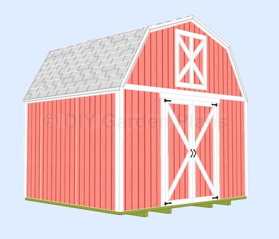 Storage Shed Barn Roof Style Plans 12/' x 24/' Garage Building Design  #31224