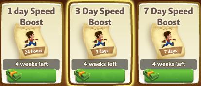 Speed Boosts - FarmVille 2