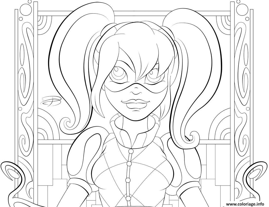 Coloriage A Imprimer Harley Quinn.Belle Coloriage De Harley Quinn A Imprimer Imprimer Et Obtenir Une