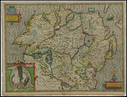The Province Ulster, Ireland - John Speed proof maps 1605-1610