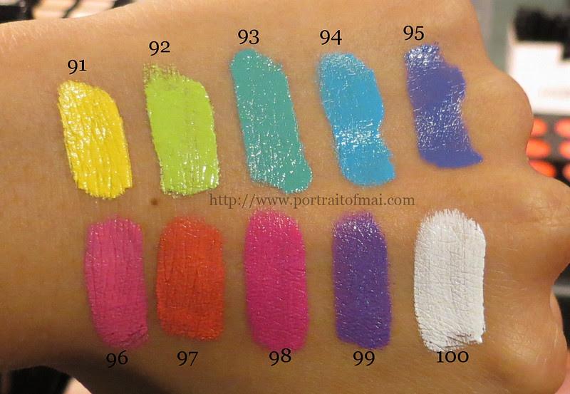 Inglot Colourplay Freedom System Lipsticks Swatches