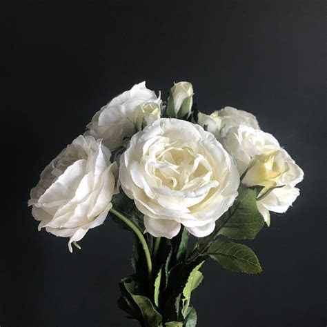 Antique White Roses   Bunch of 6   Heavenly Homes