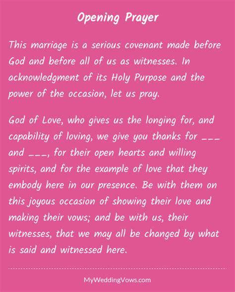 Opening Prayer in 2019   Misc   Wedding ceremony script
