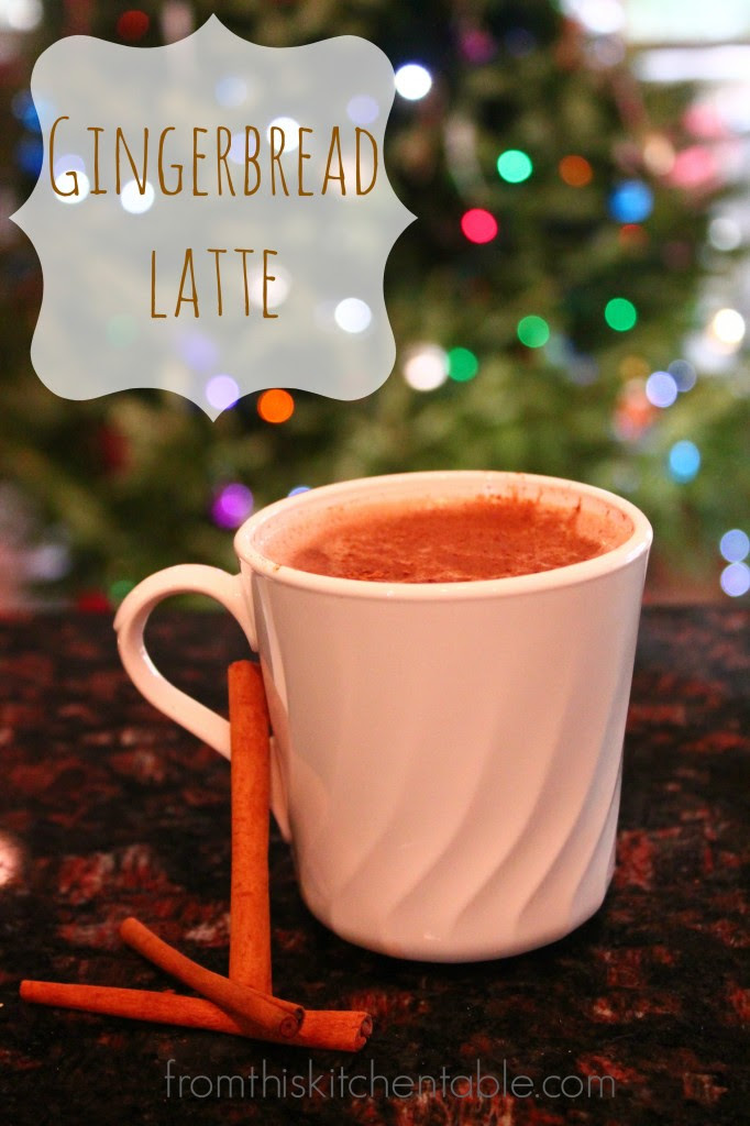 Yummy and perfectly spicy gingerbread latte. Perfect thing to get you going on a cold winter morning.