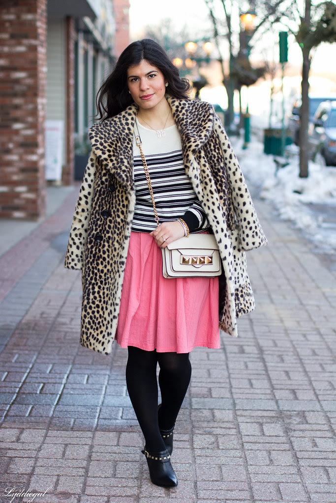 pink skirt, stripes, leopard coat-1.jpg