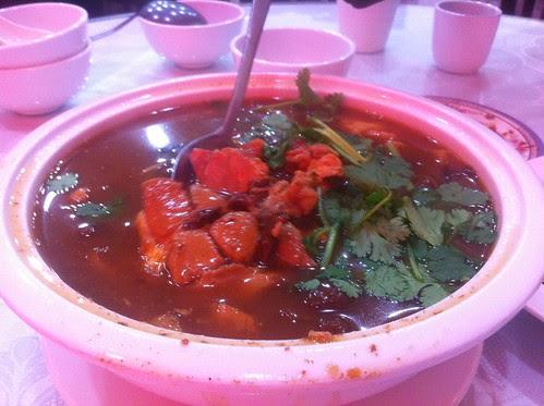 Stewed Chicken w/ Pine Mushrooms, Jiang Li, Kissena Blvd, Flushing, Queens, NYC