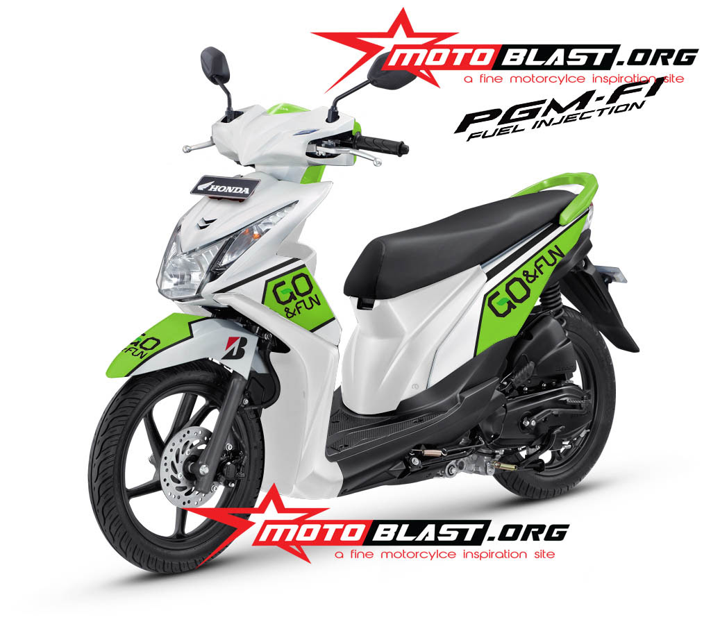 78 Modifikasi Striping Motor Beat Putih Terupdate Kempoul Motor