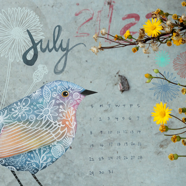 July Desktop Calendar