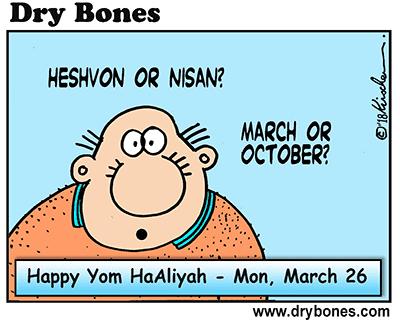 Dry Bones cartoon,Aliyah, Olim, Yom HaAliyah, holiday, Jewish, Israel,