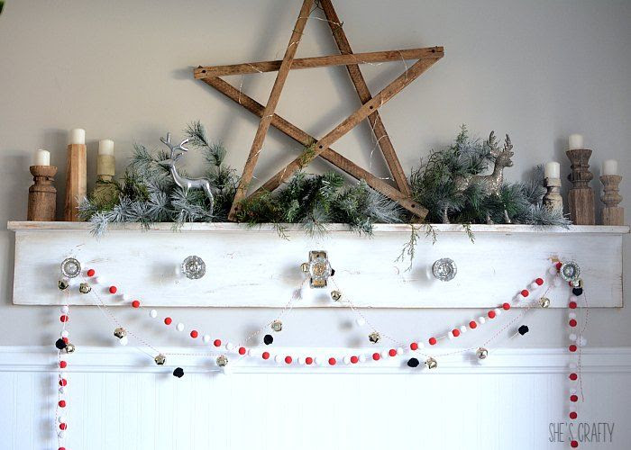 Christmas mantel tobacco stick star