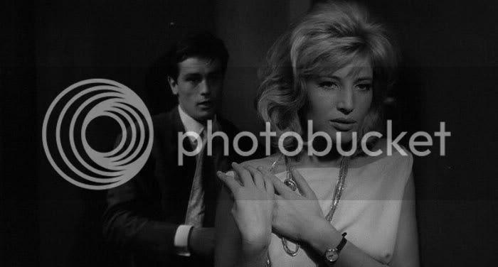 Alain Delon e Monica Vitti em 'L'Eclisse' de Antonioni