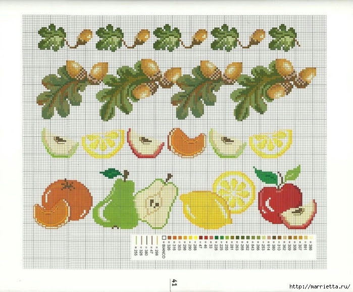 cross stitch diagrams for towels (1) (700x579, 307Kb)