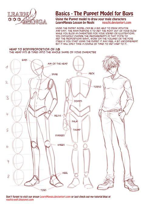 learn manga basics  male puppet  naschi  deviantart