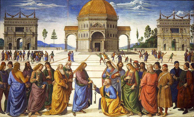 Fil: Entrega de las Llaves en San Pedro (Perugino) jpg.