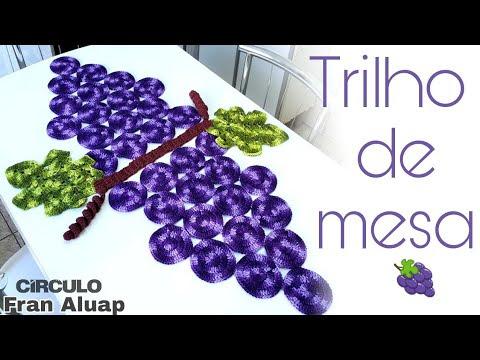 فيديو شرح طريقة عمل مفرش ترابيزة شكل عنقود العنب بالخطوات كروشية Table Center Bunch of Grapes كروشيه