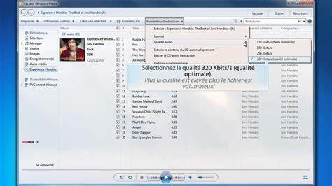 encoder  cd audio en mp avec le lecteur windows media
