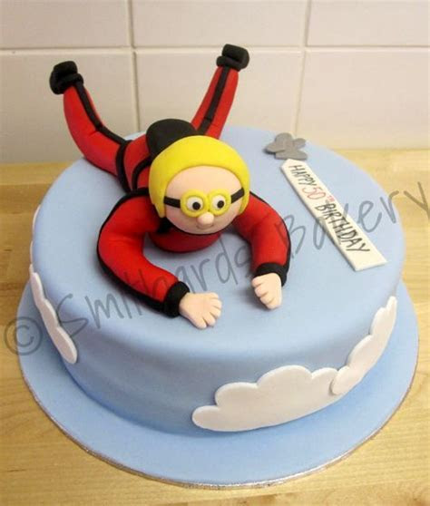 Skydiving Birthday Cake cakepins.com   Cake   Pinterest
