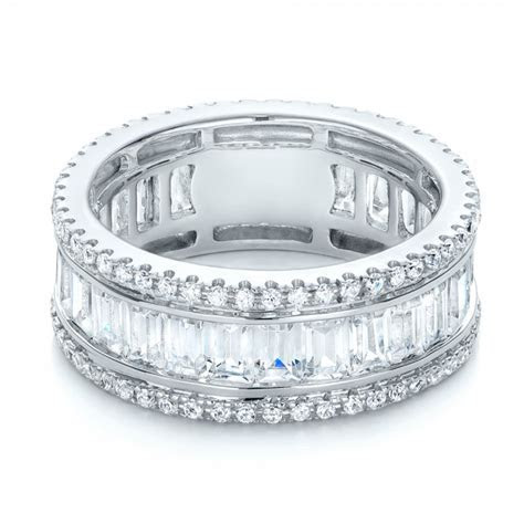 Baguette and Round Diamond Eternity Band #101311   Seattle