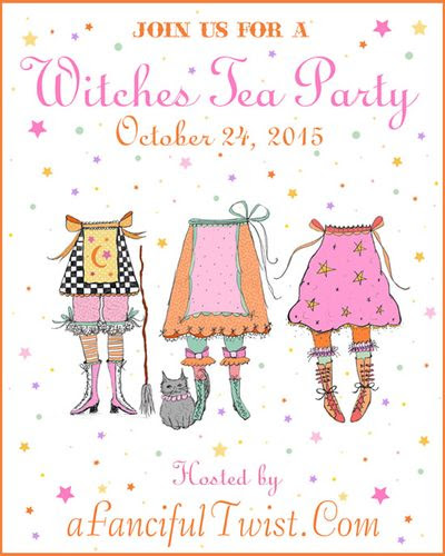 Witches tea party flyer