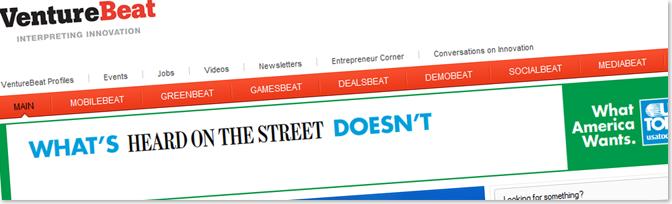 VentureBeat1 أمثلة عن مدونات تكسب آلاف الدولارات سنوياً من الانترنت