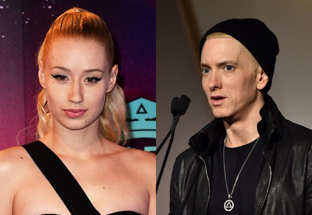 Iggy Azalea e Eminem (Foto: Getty Images)