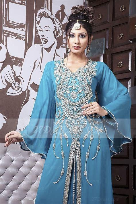 Beading Long Sleeve Prom Dresses 2016 with Blue Chiffon