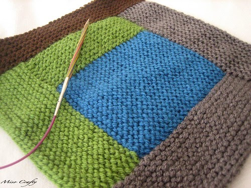 Miso Crafty Wip Knitted Log Cabin Blanket