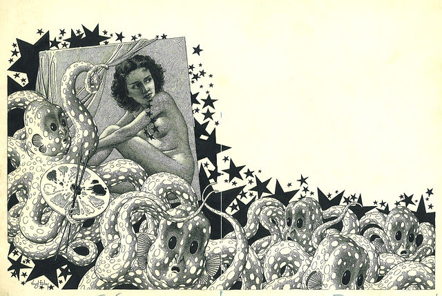 "Virgil Finlay - 69 ""The Martian's Masterpiece"" (1945)"