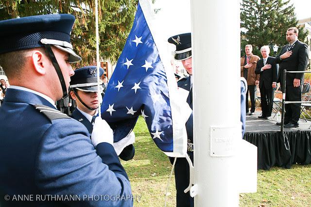 Honoring Veterans Flag Raising-13