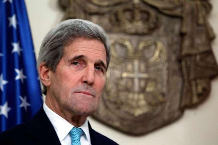 Hình ảnh Ông John Kerry: Chỉ không kích sẽ không đánh bại IS số 1