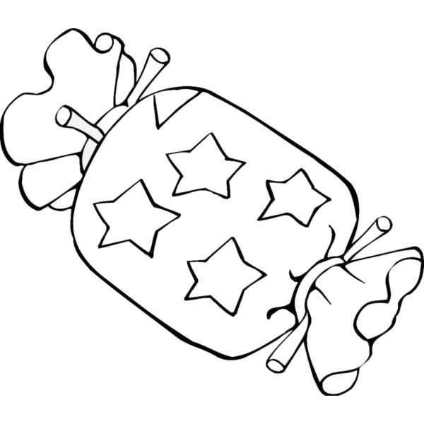 Disegno Di Caramella Da Colorare Per Bambini