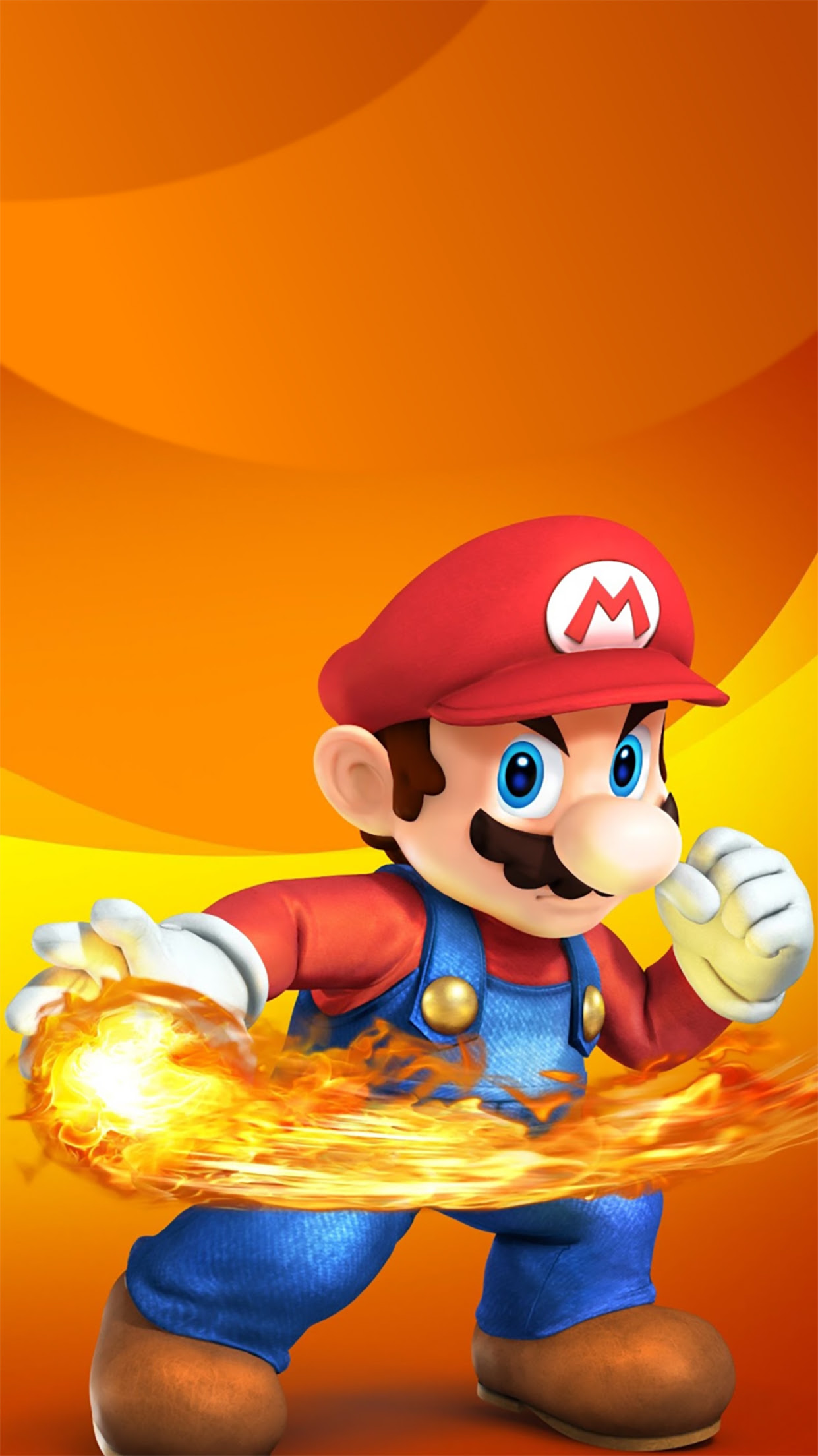 Super Mario Fire Wallpaper For Iphone X 8 7 6 Free Download