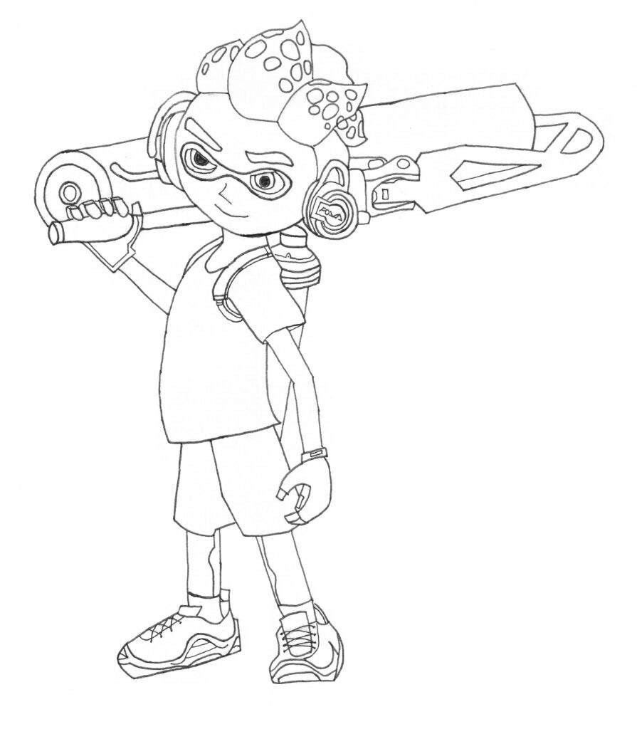 Inspirational Splatoon 2 Coloring Pages Coloring Pages