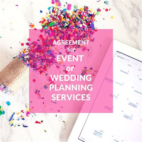 Agreement for Event or Wedding Planning Services; event