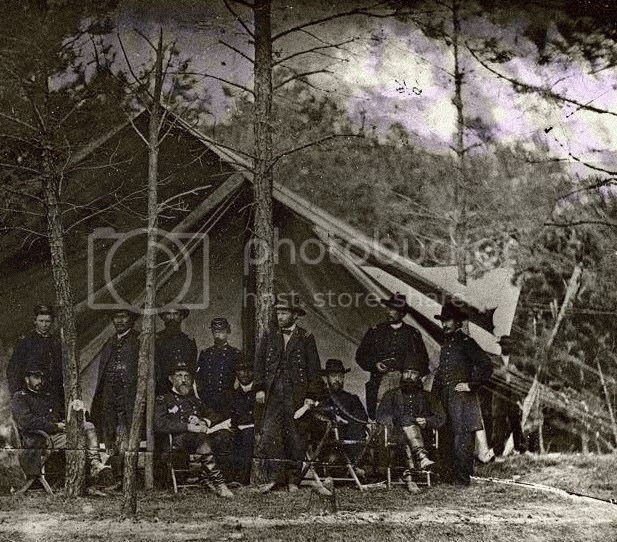 civil war photo: General McClellan and staff 395304_2836101473885_1711851296_n.jpg
