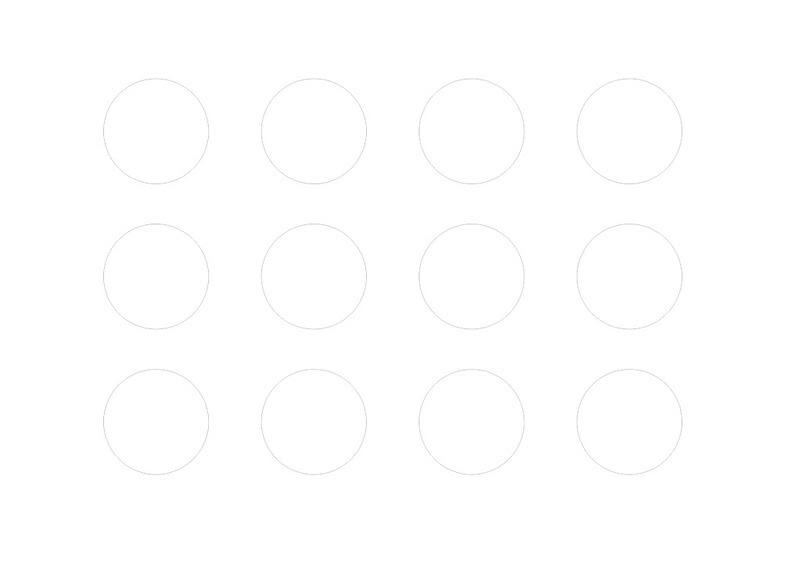 Шаблон-белые кружки
