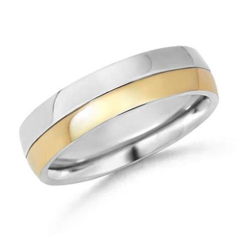 Two Tone Men's Wedding Band   Paperblog