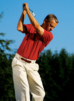 Top of backswing position