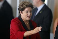 Presidente Dilma Rousseff durante reunião do Brics e Unasul em Brasília. 16/7/2014.  REUTERS/Sergio Moraes