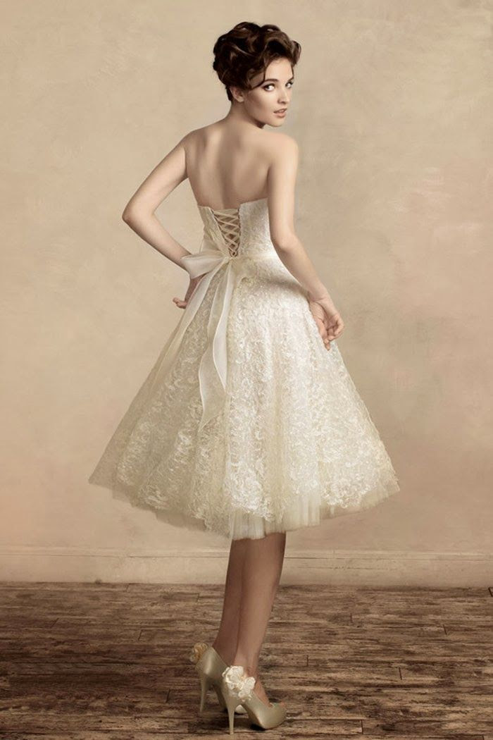 None of the laciness, but the bodice and skirt length, yes! Corset Back Wedding Dresses, Short Lace Wedding Dress... my perfect vegas wedding dress!!