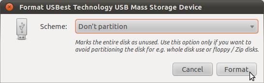 Format-Laufwerk angezeigt.