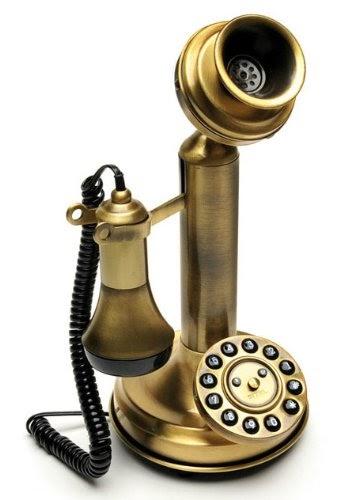 Sitel 30100t retro 39 telephone telefono fisso design vintage retro ottone telefoni analogici - Telefono fisso design ...