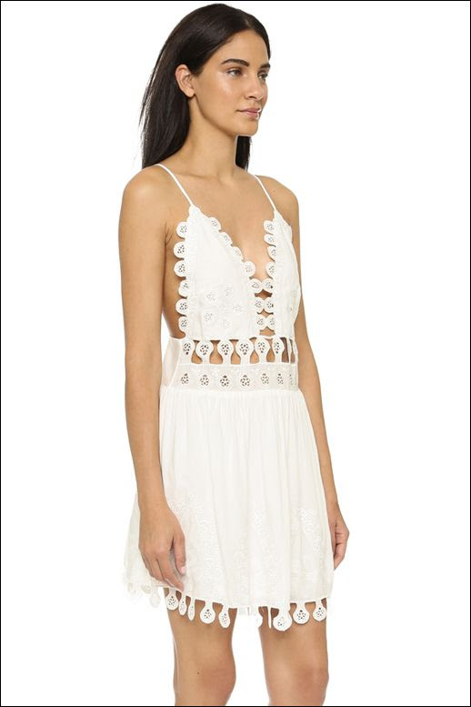 Le Fashion Blog Under 100 Cut Out Lace White Dress Chloe SS 2015 Inspired Cheap Affordable Summer Style
