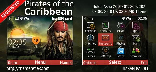 Download tema Pirates of the Caribbean untuk Nokia C3-00