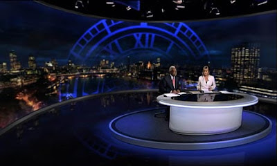 News at Ten with it's London-themed set