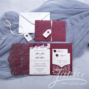 Graceful Love Heart Tri fold Laser Cut Pocket Wholesale