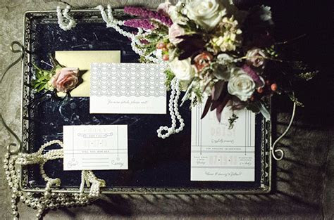 Rustic Art Deco Wedding Inspiration   Glamour & Grace