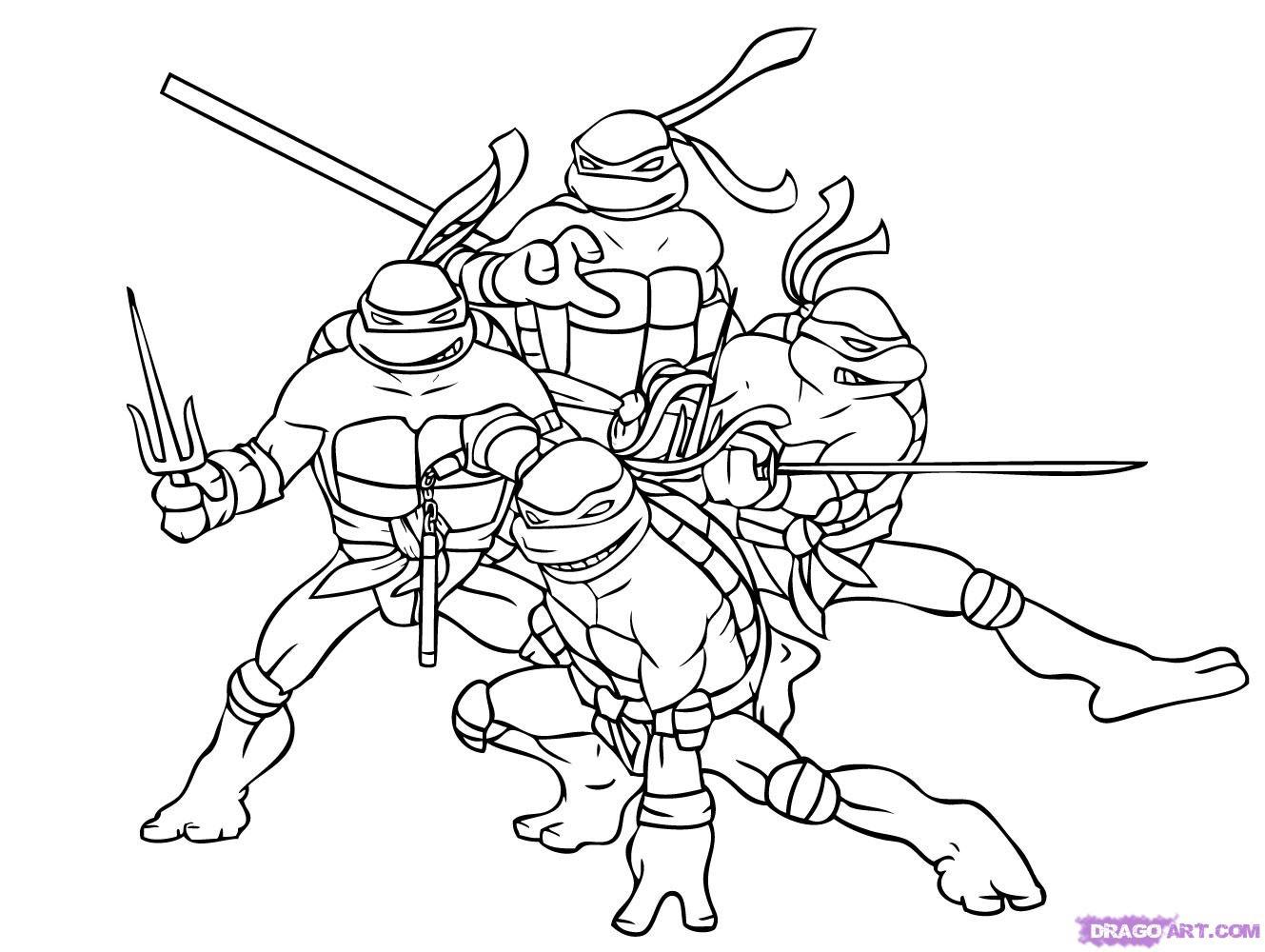 106 Dibujos De Las Tortugas Ninja Para Colorear Oh Kids Page 10