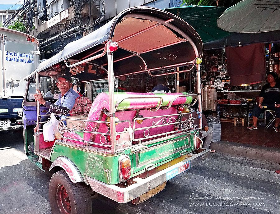 5.14.2012, A tuk-tuk waiting for its passenger.  (Bangkok, Thailand)
